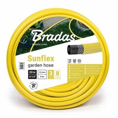 Шланг поливочный SUNFLEX 1/2 20м Bradas