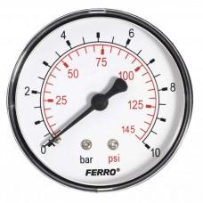 Манометр аксиальный 0-10 bar 1/4 63мм Ferro M6310A