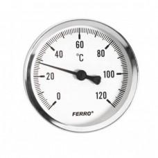 Термометр аксиальный 120°C 1/2 63мм Ferro