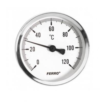 Термометр аксиальный 120°C 1/2 63мм Ferro Ferro