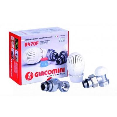 Кутовий комплект для підключення радіаторів Giacomini (R470FX003) Giacomini