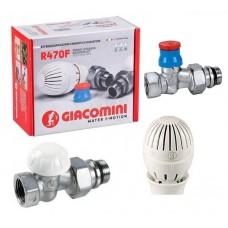 Giacomini R470FX013 1/2  прямий комплект для підключення радіаторів
