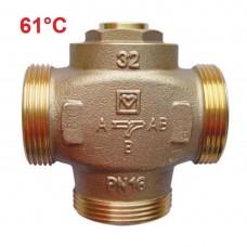HERZ Teplomix DN25 трехходовой клапан 61°C