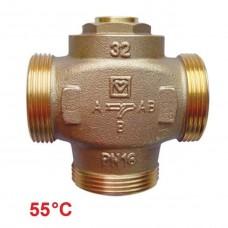 Триходовий клапан DN32 55°C HERZ Teplomix (1776614)
