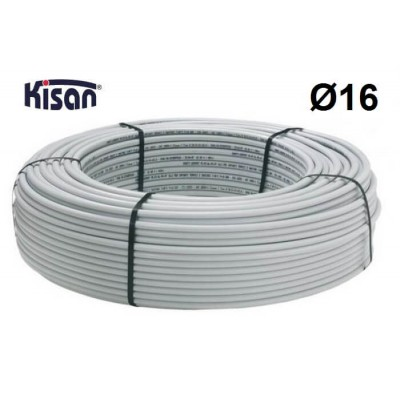 Труба металлопластиковая Kisan PEX-Xb-AL-PE 16x2.0 белая Kisan
