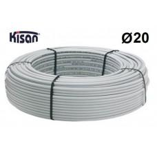 Труба металлопластиковая Kisan PEX-Xb-AL-PE 20x2.25 белая
