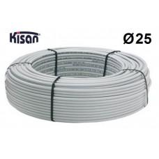 Труба металлопластиковая Kisan PEX-Xb-AL-PE 25x2.5 белая