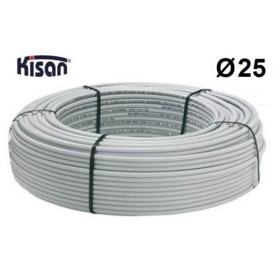 Труба металлопластиковая Kisan PEX-Xb-AL-PE 25x2.5 белая Kisan