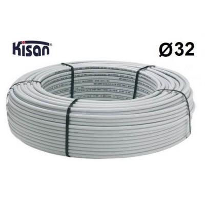 Труба металопластикова Kisan PE-Xb-AL-PE 32x3.0 біла Kisan
